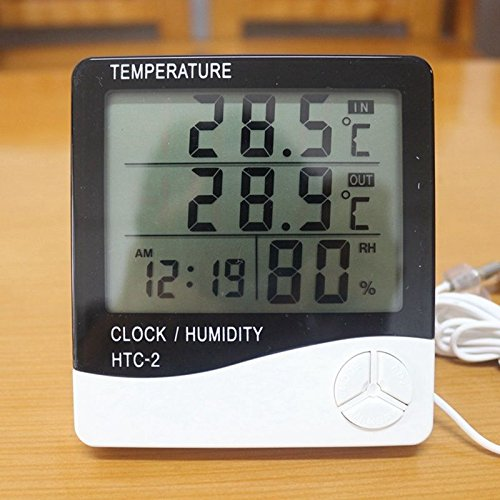 Digital LCD Thermometer Hygrometer Temp Humidity Meter Indoor/Outdoor