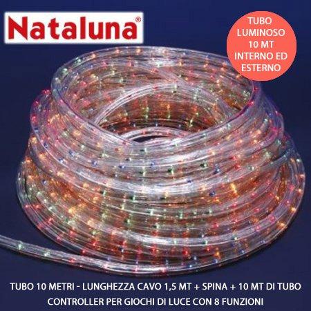 TUBO LUMINOSO 10 METRI MULTICOLOR NATALUNA
