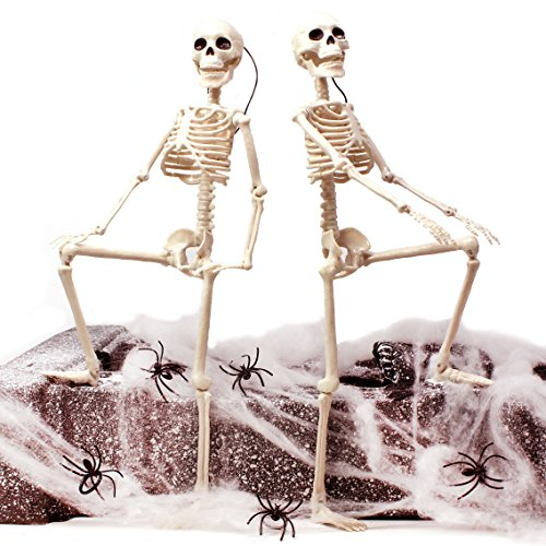 "House Decorations For Halloween (Spooktacular Creations 2 Packs 16"" Posable Halloween Skeletons 