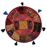 """Product review for Beautiful Decorative Ruond Ottoman Indian Patchwork Pouffe ,Indian Traditional Home Decorative Handmade Cotton Ottoman Patchwork Foot Stool , Embroidered Chair Cover Vintage Pouf 32"""" (Multi)"""