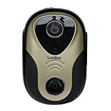 Looline Wireless Visual Intercom Doorbell Home Security Camera Monitor System Electronic WiFi Digital Video Recorder Wireless Doorbell with Alarm and Unlocking Function
