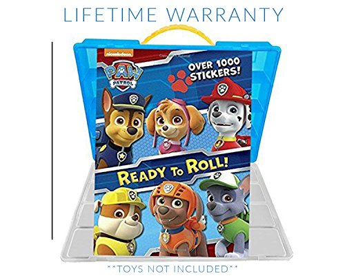 Paw Patrol Sticker Book + Case, Toy Storage Carrying Box. Figures Playset Organizer. Accessories For Kids by LMB