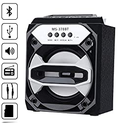 Pausseo BT Wireless Speaker - Outdoor Portable Super Bass FM Radio MP3 Player with USB/TF/AUX - Speaker Drivers with HD Sound and High Definition Audio for Beach, Shower & Home
