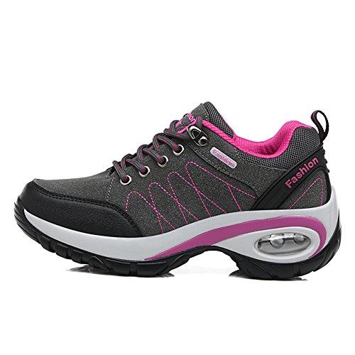 Sport En À De La Et Gray Pour Mode L'usure Course Chaussures Saisons Suetar Randonnée Antidérapantes Daim Dames Quatre Résistantes Femmes 5xCEEz