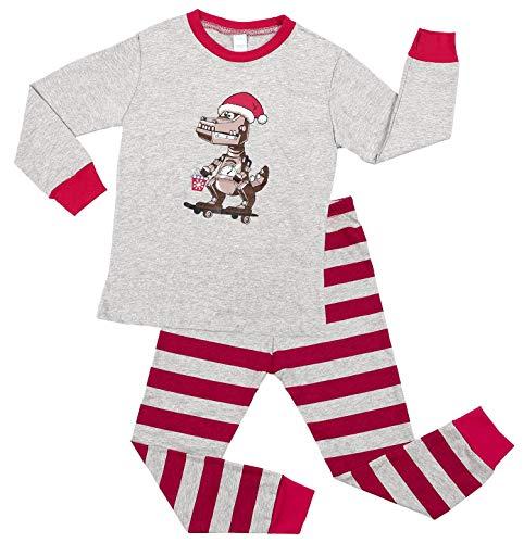 V FOR CITY Children Christmas Pajamas Sets 6T Kids Dinosaur Xmas Pajama Little Boys Cotton Jammies