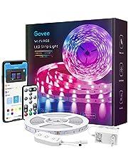 Govee Smart LED Strip, WiFi RGB LED Strip 5m, styrbar via app och fjärrkontroll, musik synkronisering, arbete med Alexa och Google Assistant