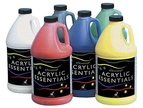 Chroma Acrylic Essential Set, 1/2 Gallon Jugs, Assorted Primary Colors, Set of 6 - -