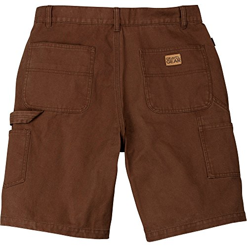 Gravel Gear Duck Carpenter Short - Bark Brown, 34in. (Cotton Canvas Work Shorts)