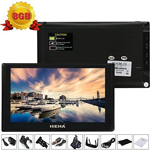Hieha® 7 Zoll 8GB LKW PKW Car Auto KFZ Europe Traffic GPS Navi Navigation Navigationssystem Navigationsgerät Neueste EU Karten POI Blitzerwarnungen