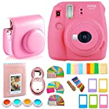 Photo : FujiFilm Instax Mini 9 Camera + Protective Case/ Hanging Frames/ 4 Filters/ Selfie Lens/ Photo Album/ Stickers and More - Portable & Perfect Gift (Flamingo Pink)