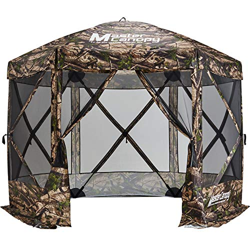 MasterCanopy Escape Shelter, 6-Sided Canopy Portable Pop up Canopy Durable Screen Tent Bug and Rain Protection (6-8 Person),Camouflage (Canopy Durable)