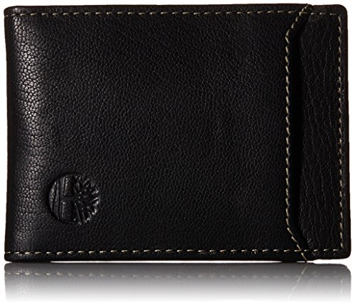Timberland Men's Blix Minimalist Slim Money Clip Wallet, Black, One Size (Money Flip Clip)