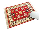 Oriental Woven Rug Mouse Pad - Turkish Style Carpet Mousemat - Great Gift (Light-Red)