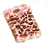 Huggrz Junior Womens Pink Panther Faux Shaggy Accessory Boot Wraps