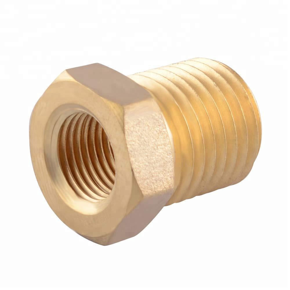 HERCHR Brass Sump Plug Adaptor Sensor Gauge Oil Temprature 1//8 NPT Female to M14x1.5 Male