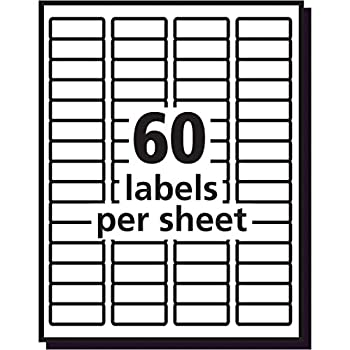 """Avery Clear Easy Peel Return Address Labels For Laser Printers 23"""" X 1-34"""", Pack Of 600 (15695) 8"""