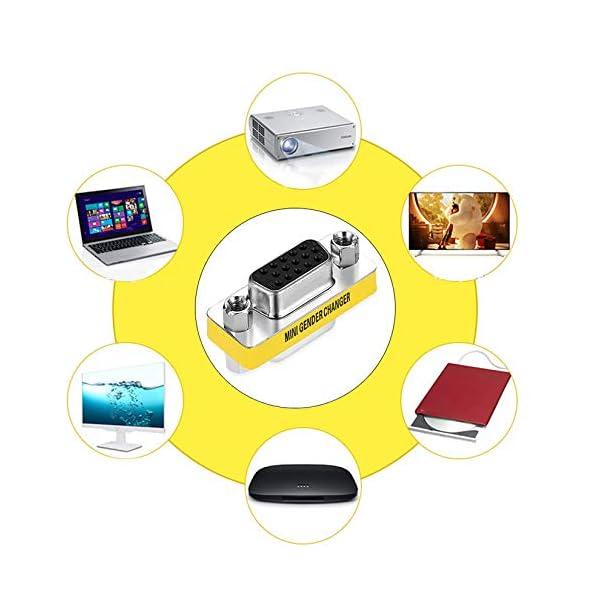Adattatore per trasformatore di Genere a Pin Femmina VGA HD15 da Donna a Femmina di Design Professionale Disponibile… 2 spesavip