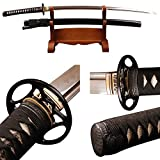 ShiJian Handmade Japanese Samurai Katana Real Sharp Sword Folded Steel Clay Tempered
