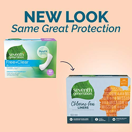 Seventh Generation Pantiliner Pads, Free & Clear, 50 Count