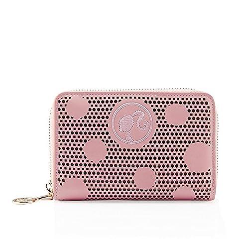 Barbie Fashion Retro Sweet Hollow dots Barbie pattern Women short purse#BBPS004.02A