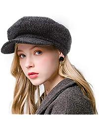 8a9574777f2 Newsboy Beret Hat for Women Cabbie Hats Fall Visor Cap Paperboy Painter Hat…