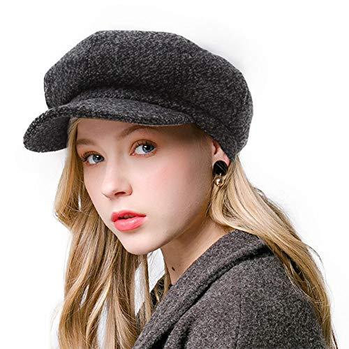Blmusi Newsboy Beret Hat for Women Cabbie Hats Fall Visor Cap Paperboy Painter Hat -
