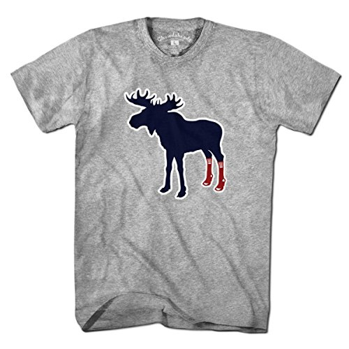- Socks On Moose T-Shirt by Chowdaheadz - 2XL
