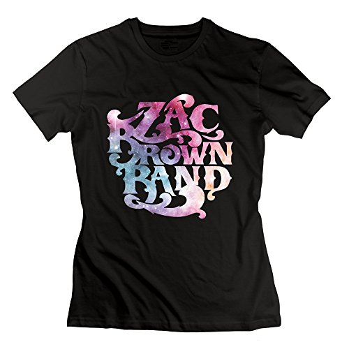 Ptshirt.com-19144-Women\'s Cotton Zac Brown Band T-shirts Black-B0163R5GKC-T Shirt Design