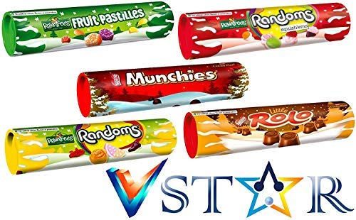ROWNTREE'S Fruit PASTILLES, RANDOMS, SQUISH'EMS, Nestle Munchies, ROLO Milk Collection with Box ( V Star)