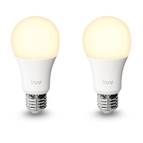 Innr E27 Duo Pack con 2 Bombilla LED conectada, luz blanca cálida, controlable vía
