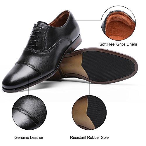 DESAI Men's Leather Dress Shoes Cap Toe Lace-up Oxford (11 M US, Black) by DESAI (Image #6)