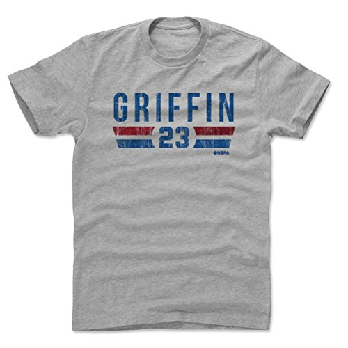 - 500 LEVEL Blake Griffin Cotton Shirt Medium Heather Gray - Vintage Detroit Basketball Men's Apparel - Blake Griffin Detroit Font B