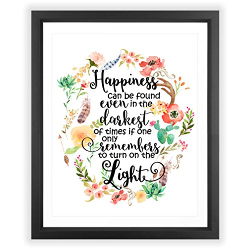 Happiness Can Be Found In The Darkest Of Times Quote: Eleville 8X10 Happiness Can Be Found In The Darkest Of