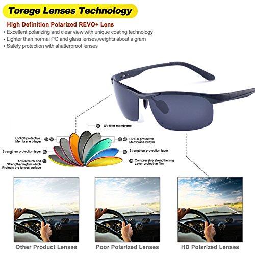 Mode Lunettes de soleil polarisées pour l'extérieur Sports Homme Femme/MG en alliage pour homme Aviator pilote Pêche Lunettes de soleil polarisées Eyewear UV400 Jz0AfvIxyM