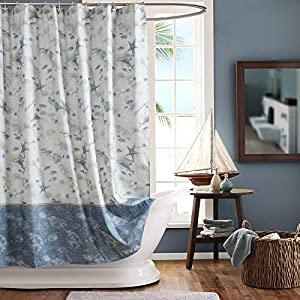 51pnxobhJhL._SS300_ Beach Shower Curtains & Nautical Shower Curtains