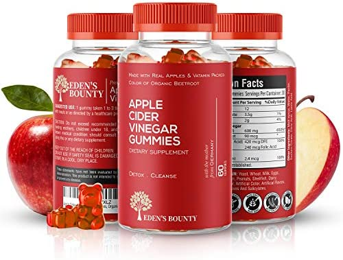 Apple Cider Vinegar Gummies for Building Immunity, Detox and Weight Loss (1 Pack, 60 Capsules, Organic and Vegan)… 3