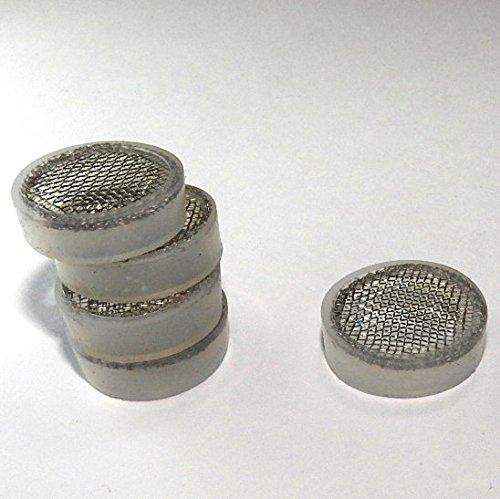 5 Pack Tea Leaves and other Particles Stainless Steel Mesh Screen Filter for Iced Beverage Dispenser Replacement Spigot Easily Fits 16mm Threaded End to Filter or Strain Citrus Pulp