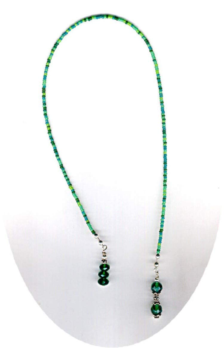 Deep Green Quartz Gemstone Beaded Bookmark