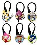Sonic the Hedgehog Silicone Snap Lock Zipper Pulls 6 Pcs Set #1