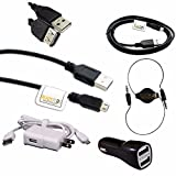 ReadyPlug Accessory Bundle for: LEMFO Charging Pad for LEMFO LES1 Android Smart Watch USB Data/Charger/3.5mm Audio Discount Multi Pack