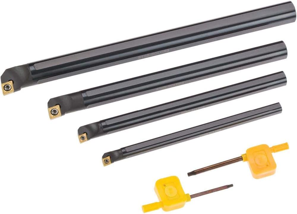 Carbide Insert CCMT Boring Bar Set Grizzly Industrial T10439 4 pc.