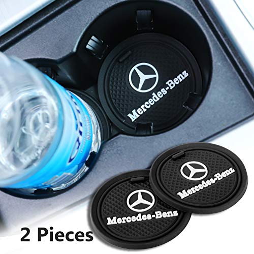 Forno 2 Pack 2.75 inch Car Interior Accessories Anti Slip Cup Mat for Mercedes-Benz All Models (for Mercedes-Benz)