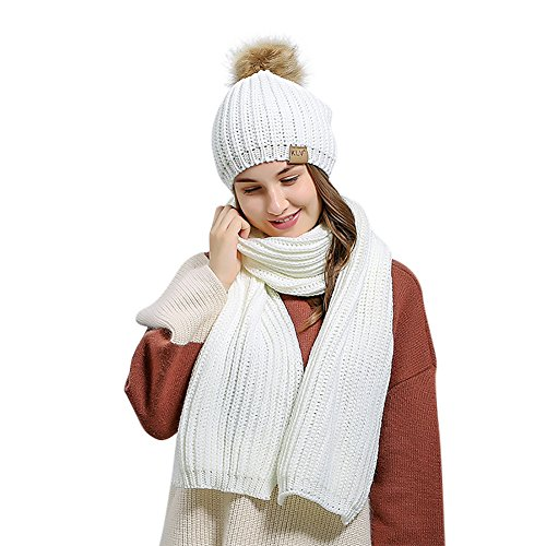 blanco de Colores ishine Gorros Gorros Hombre de Punto Invierno Mujer Invierno con 4 RRSx67
