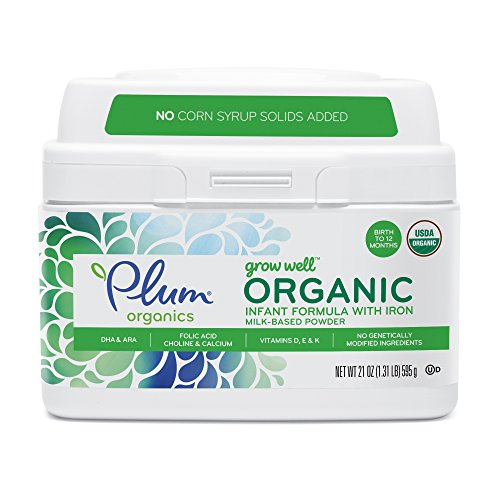 Plum Organics Grow Well Organic Infant Formula, 21 Ounce