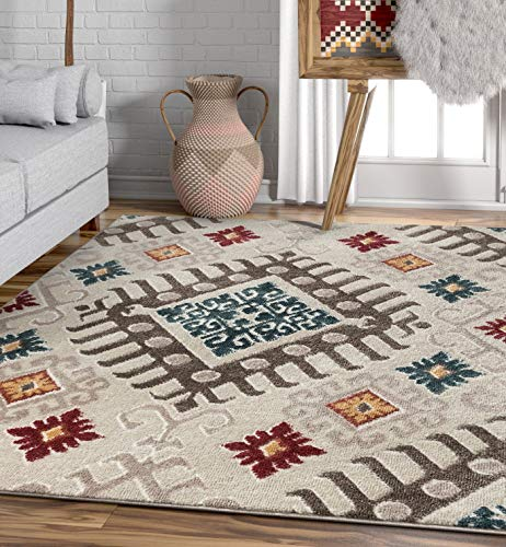 Well Woven Moroccan Ikat Area Rug Multicolor 5x7 (5'3