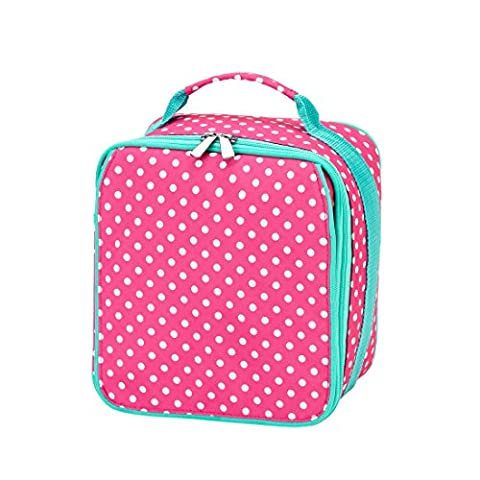 Insulated Water Resistant Lunch Bag (Pink Dot) - Dots Personalized Lunch Box