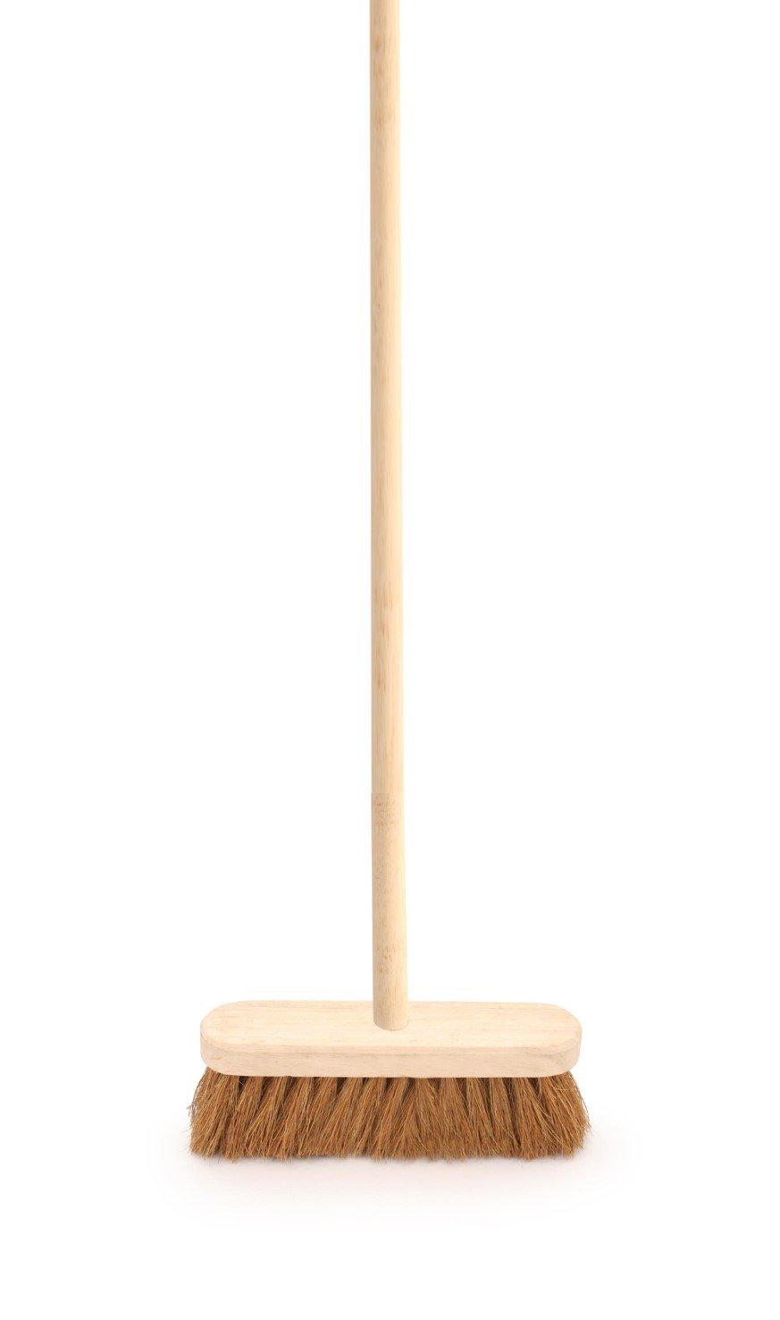 The Dustpan and Brush Store Balai d'inté rieur avec poigné e souple 25, 4 cm en bois naturel Coco Balai 4cm en bois naturel Coco Balai