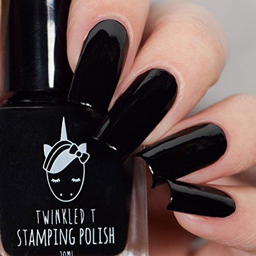 Stamping Polish Opaque in 1 Coat by Twinkled T (Vibin (Black))