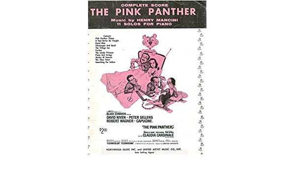 The Pink Panther Complete Score 11 Solos For Piano Henry Mancini