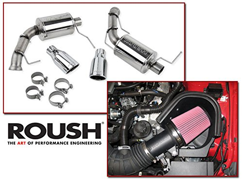 (2011-2014 Mustang GT 5.0 Roush Cold Air Intake & Axle Back Muffler Exhaust Combo Kit)